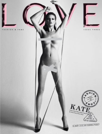 Just Kate Moss with no clothes on. Move along, nothing to see here.